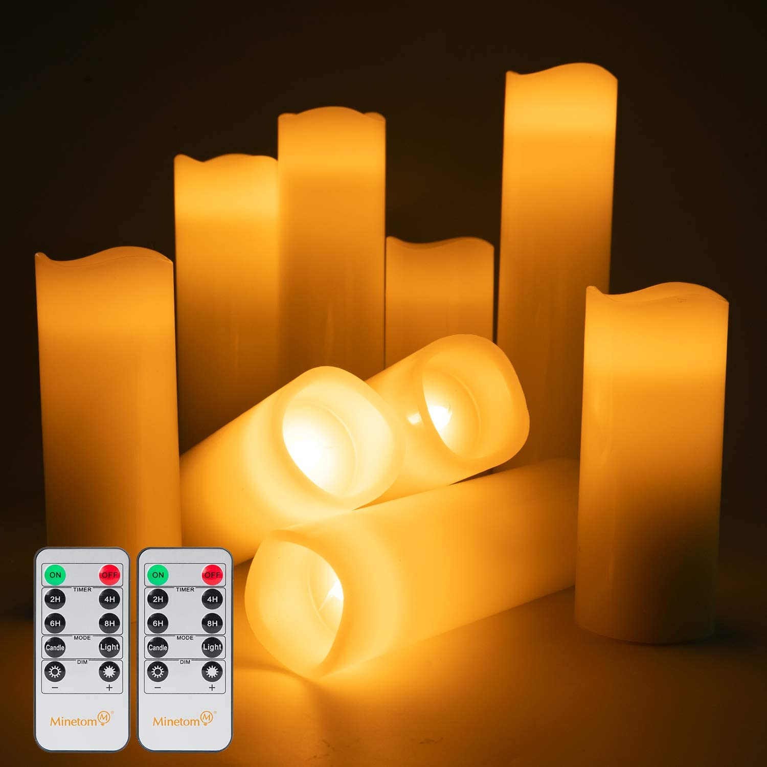 LED Flameless Candles Battery Operated - Minetom 9 Pack (5