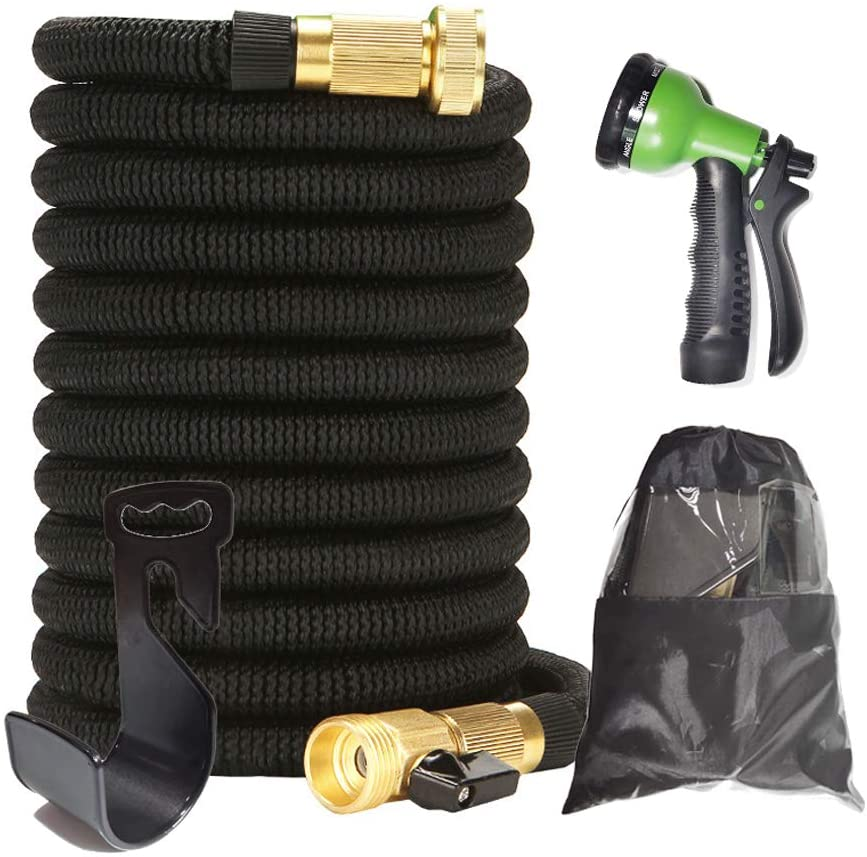 YZMY Tool Expandable Garden Hose Magic Expanding Flexible Hose Water Hose with Storage Sack (100)