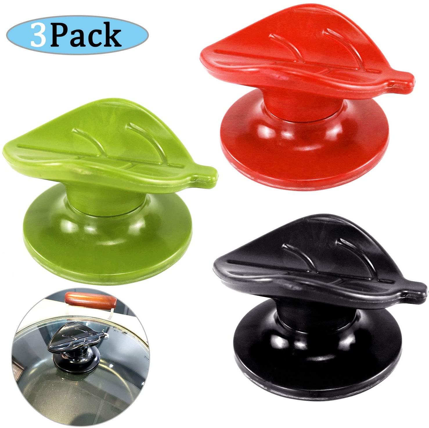 Cookware Lid Knob Handle, Kitchen Universal Casserole Glass Lid Pot Knob, Universal Replacement (3 Pack)