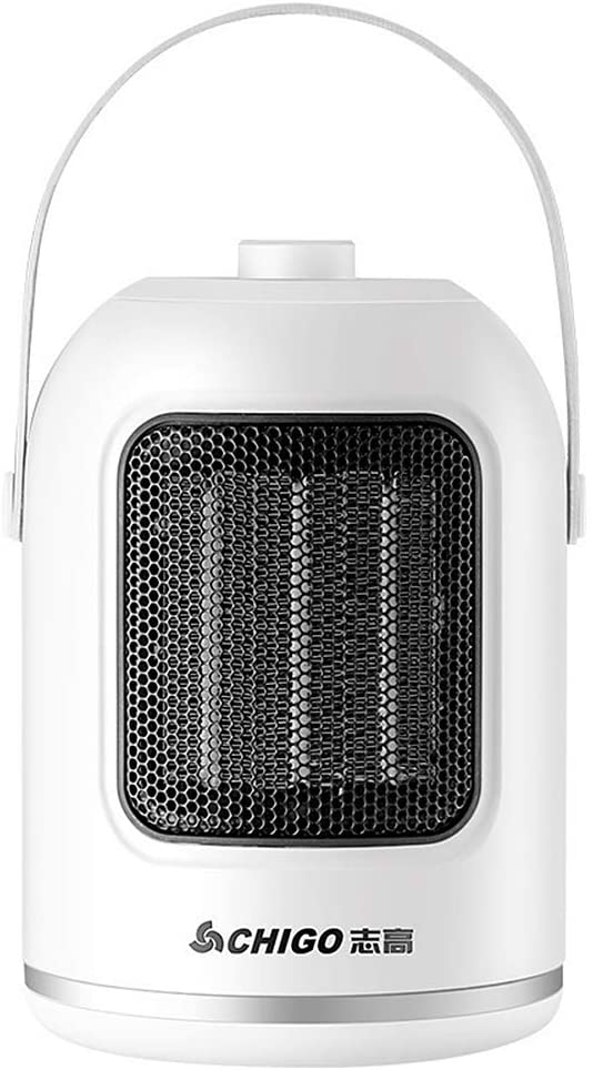AODDING Portable Electric Heater, 1000W Electric Space Heater Fan with Three Heat Settings, Overheat & Tip-Over Protection Air Circulating, Durable, for Home Dormitory Office Desktop (White)