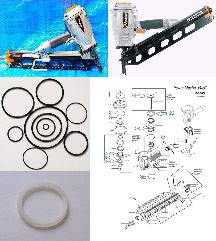 HAKATOP O-Ring Rebuild Kit for Paslode Framing Nailer F350-S With 402011 Cylinder Seal