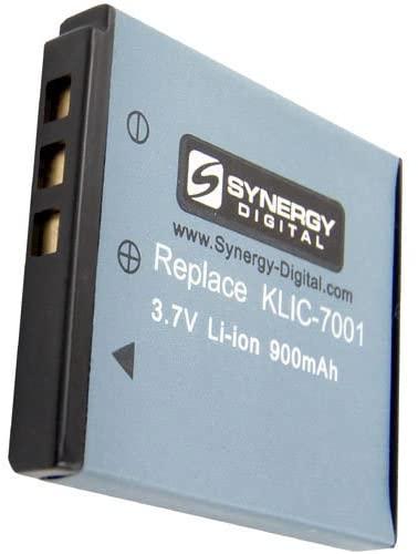 Synergy Digital Camera Battery, Works with Kodak Easyshare M1073 IS Digital Camera, (li-ion, 3.7V, 900 mAh) Ultra Hi-Capacity, Compatible with Kodak KLIC-7001 Battery