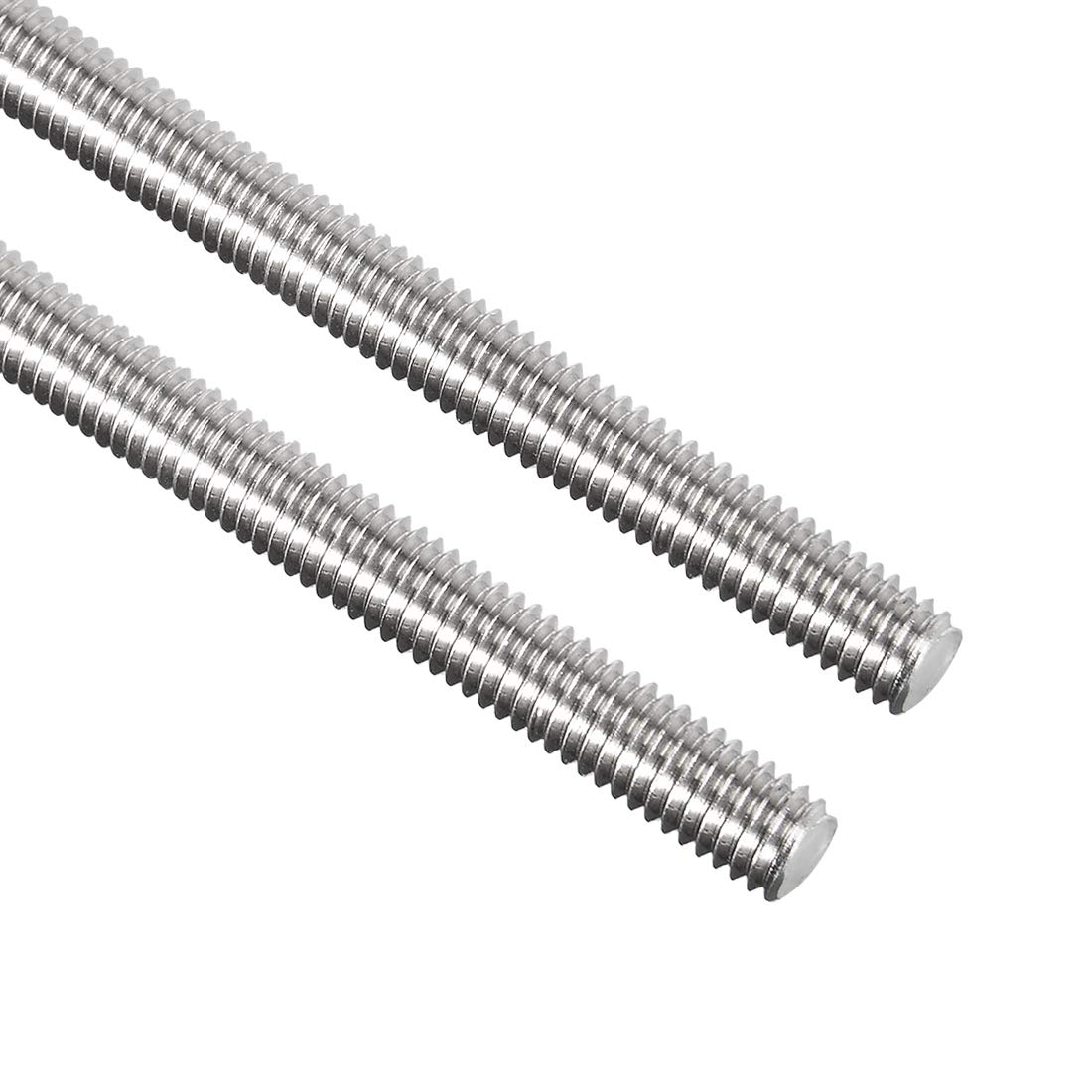 Awclub 2pcs M6 x 250mm Fully Threaded Rod, 304 Stainless Steel Long Threaded Screw,Right Hand Threads for Anchor Bolts,Clamps,Hangers and U-Bolts