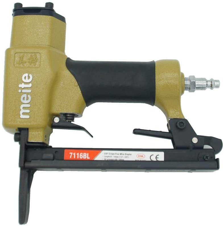 7116BL Upholstery Stapler-22 Gauge1/4-Inch to 5/8-Inch 3/8'' Crown C Crown Long Nose Fine Wire Stapler