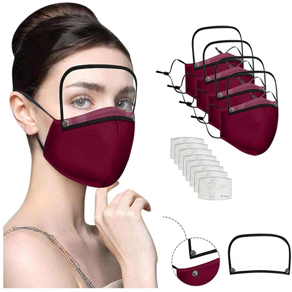 Face_Mask Adults Washable Reusable Face With And Detachable Eye Shield