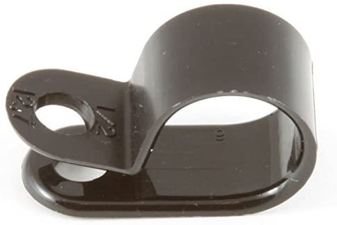 1/2 Black Nylon Cable Clamps - (pack of 50)