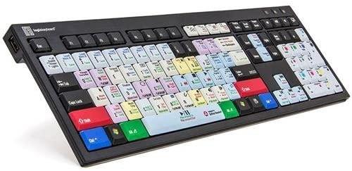 LogicKeyboard American English Nero PC Slim Line Keyboard for Blackmagic DaVinci Resolve v.12 Color Correction Solution, Aluminum (Renewed)