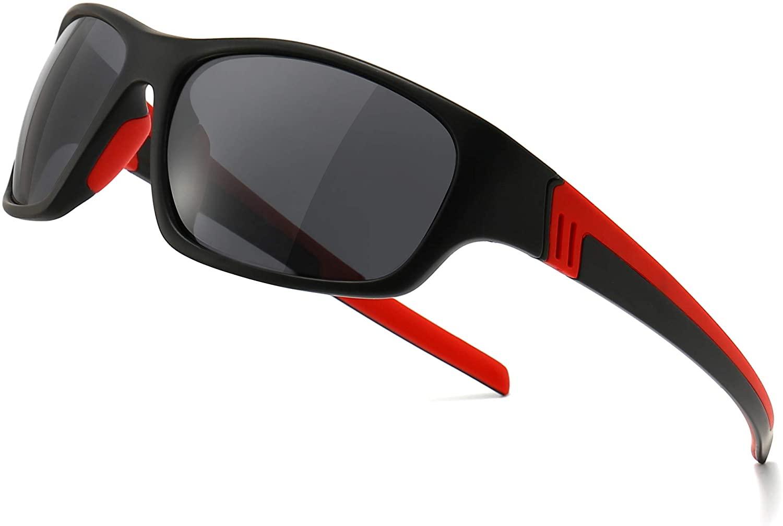 SUNGAIT Polarized Sports Sunglasses For men Unbreakable UV protection Square Glasses