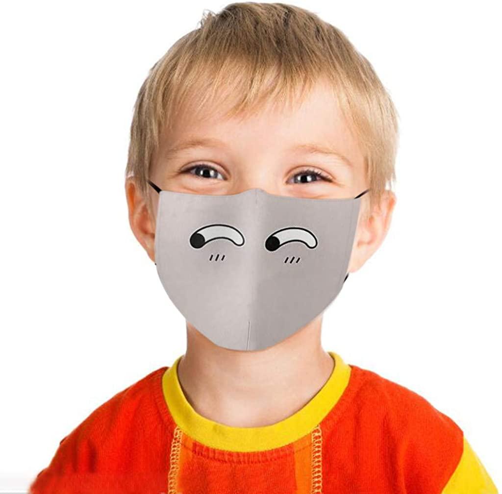 1/5PCS Funny Bandanas Breathable Kids Reusable Cartoon Printed Cycling Fashion Washable Cloth Face_Mask