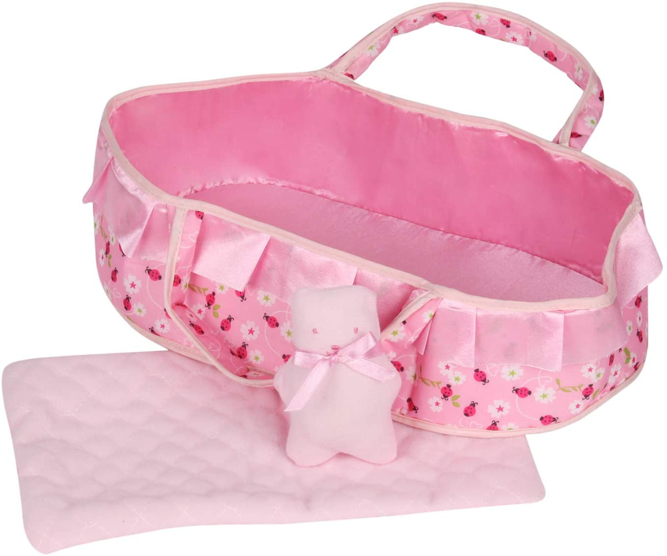 Huang Cheng Toys Lovely Baby Doll Cradle Blanket for 12-inch Doll Carrier Pretend Play Toy