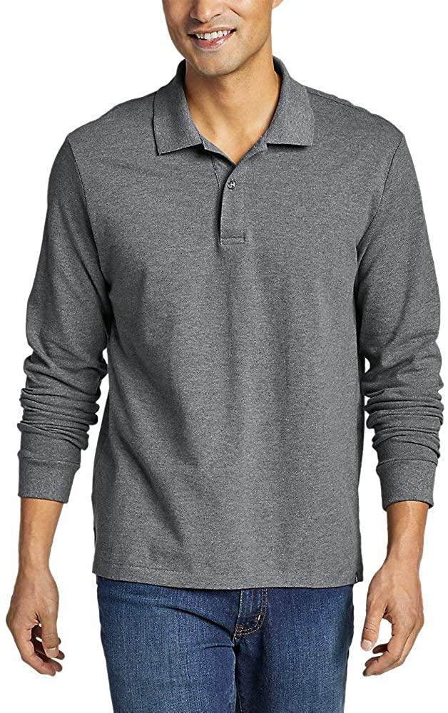 Eddie Bauer Men's Classic Field Pro Long-Sleeve Polo Shirt