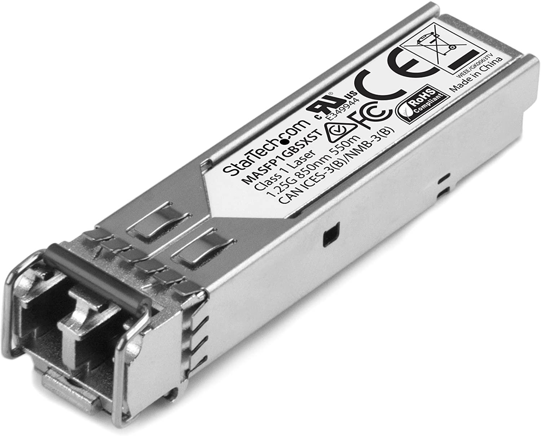 StarTech.com Cisco Meraki MA-SFP-1GB-SX Compatible SFP Module - 1000BASE-SX - 1GbE Multimode Fiber MMF Optic Transceiver - 1GbE SFP - LC 550m - 850nm - DDM Cisco Meraki MS225, MX400 (MASFP1GBSXST)