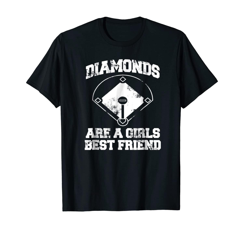 Diamonds Are A Girl's Best Friend Baseball T-shirt For Women