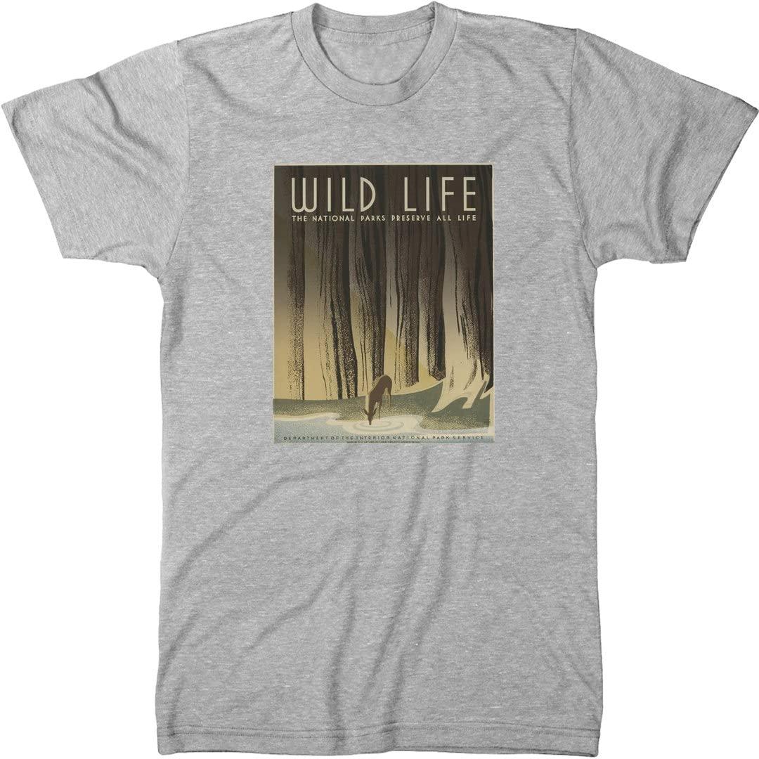 National Parks Wild Life Men's Modern Fit T-Shirt