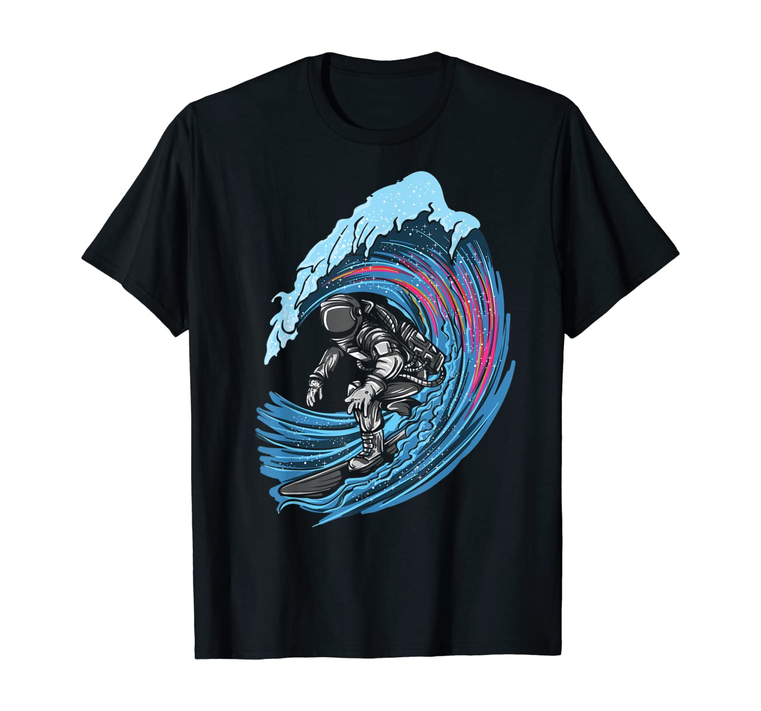 Astronaut in Space Surfer Surfing Beach Artsy T-Shirt