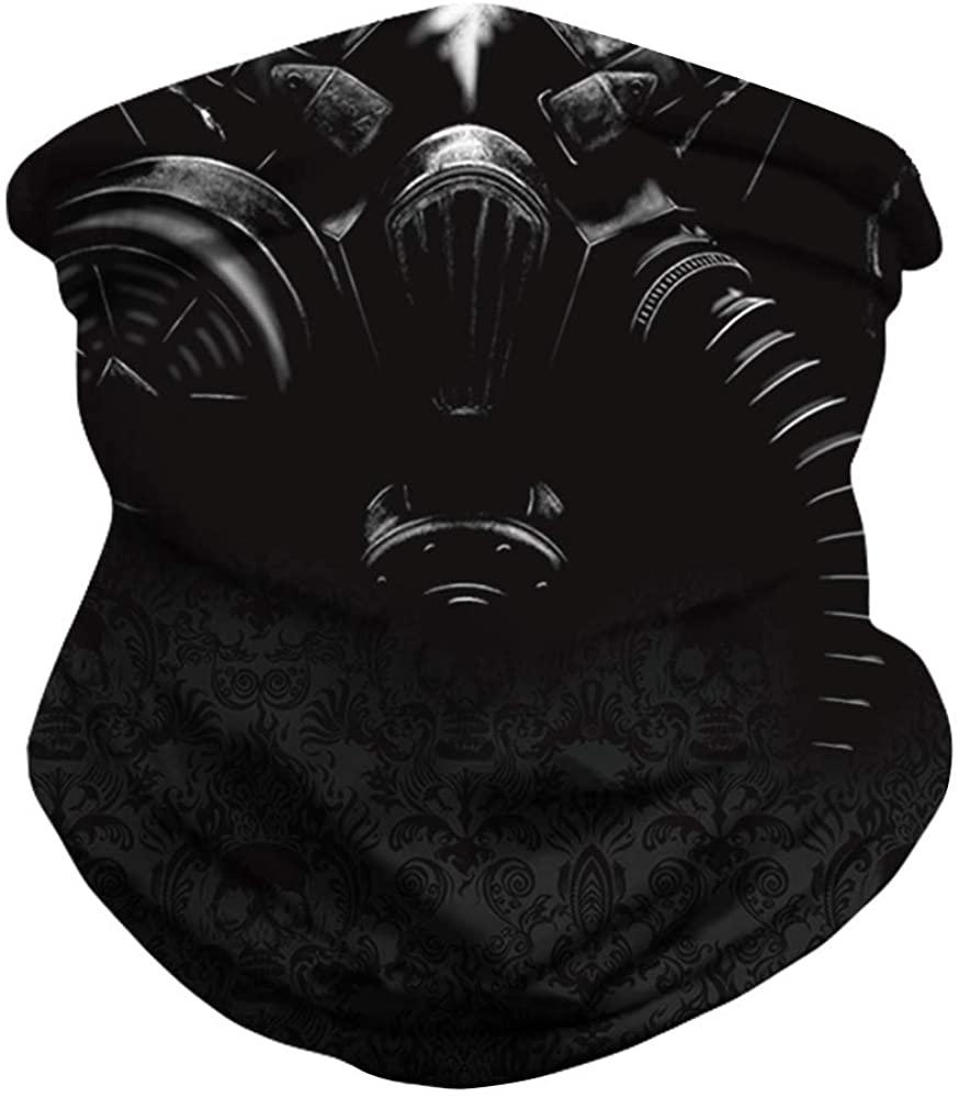 Face Scarf Cover Mask Bandana, Seamless Face Mask Bandanas Sun Dust Bandanas for Outdoor Sports Motorcycling Hiking Black
