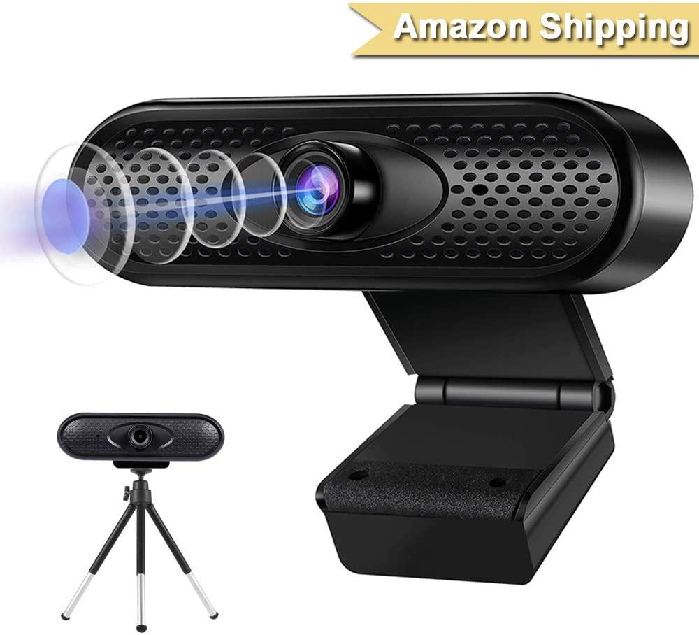 TOMLOV Webcam HD 1080p Web Camera, USB PC Computer Webcam with Microphone, Laptop Desktop Full HD Camera Video Webcam Pro Streaming Webcam for Recording, Calling, Conferencing, Gaming