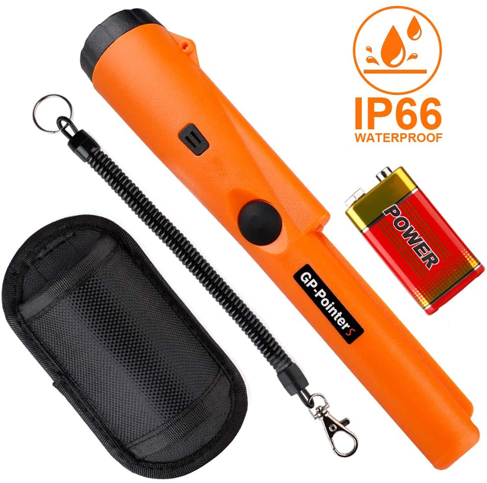 Moonvvin Handheld Metal Detector, Pointer Water Resistant Metal Detectors with Holster Treasure Hunting Unearthing Tool for Locating Gold Coin Silver Jewelry