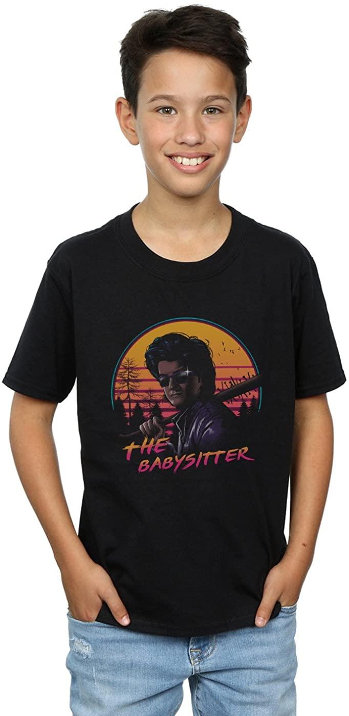 Vincent Trinidad Boys The Babysitter T-Shirt Black 12-13 years