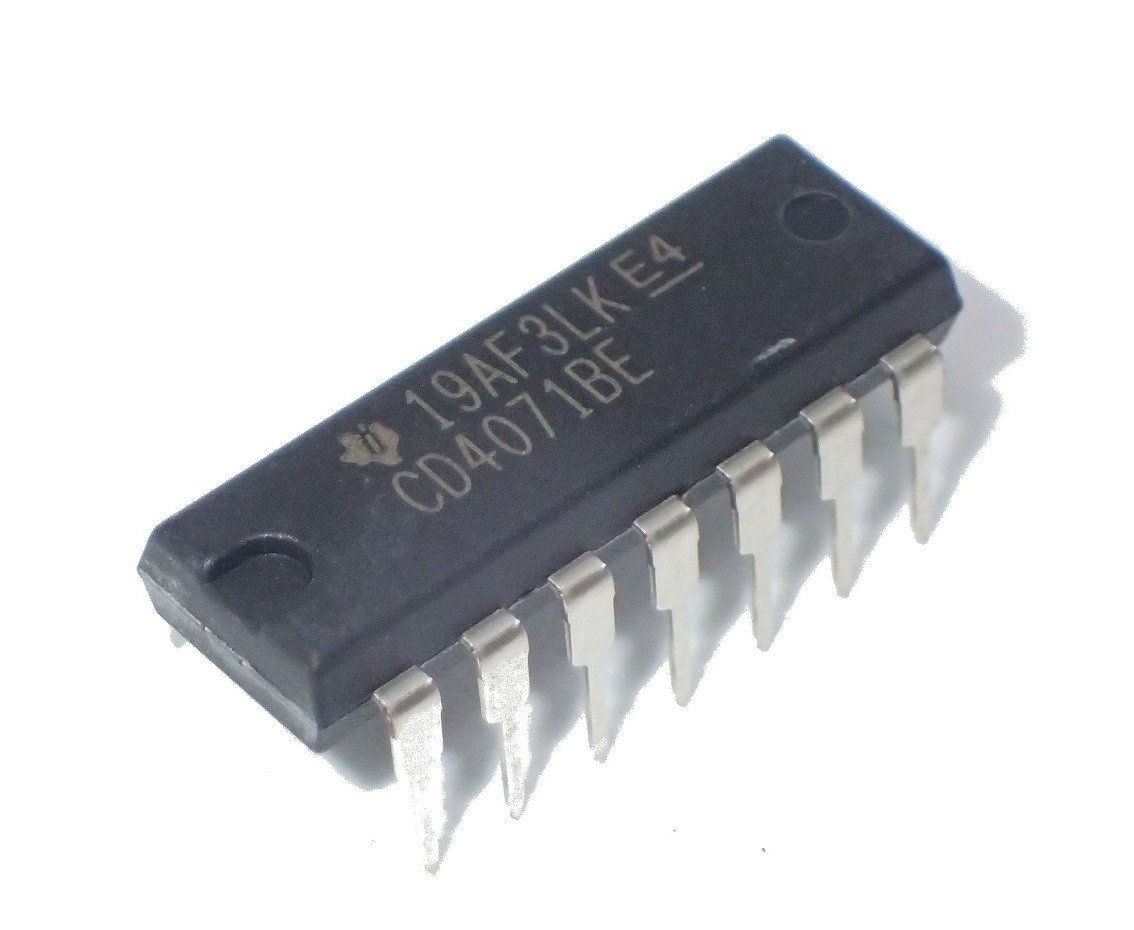 Texas Instruments CD4071BE IC, Quad OR Gate, 2I/P, 60NS, DIP-14 (Pack of 10)