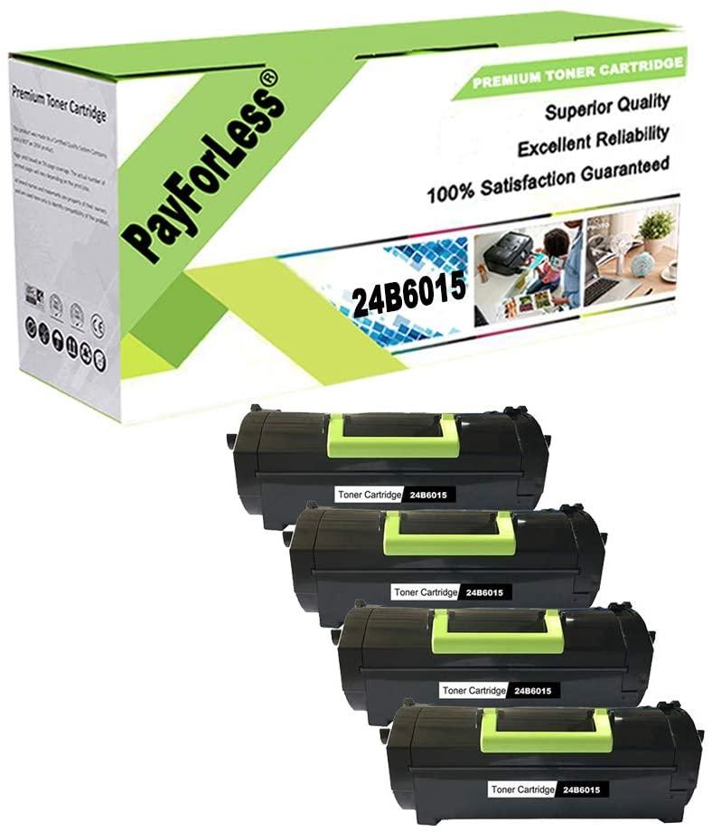 PayForLess Compatible for Lexmark 24B6015 Toner for M5155 M5163 M5170 XM5163 XM5170 (Black 4PK)