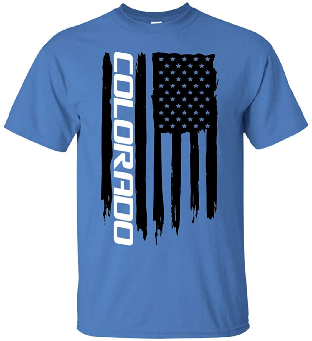 Wheel Spin Addict Men's Colorado Truck American Flag T-Shirt