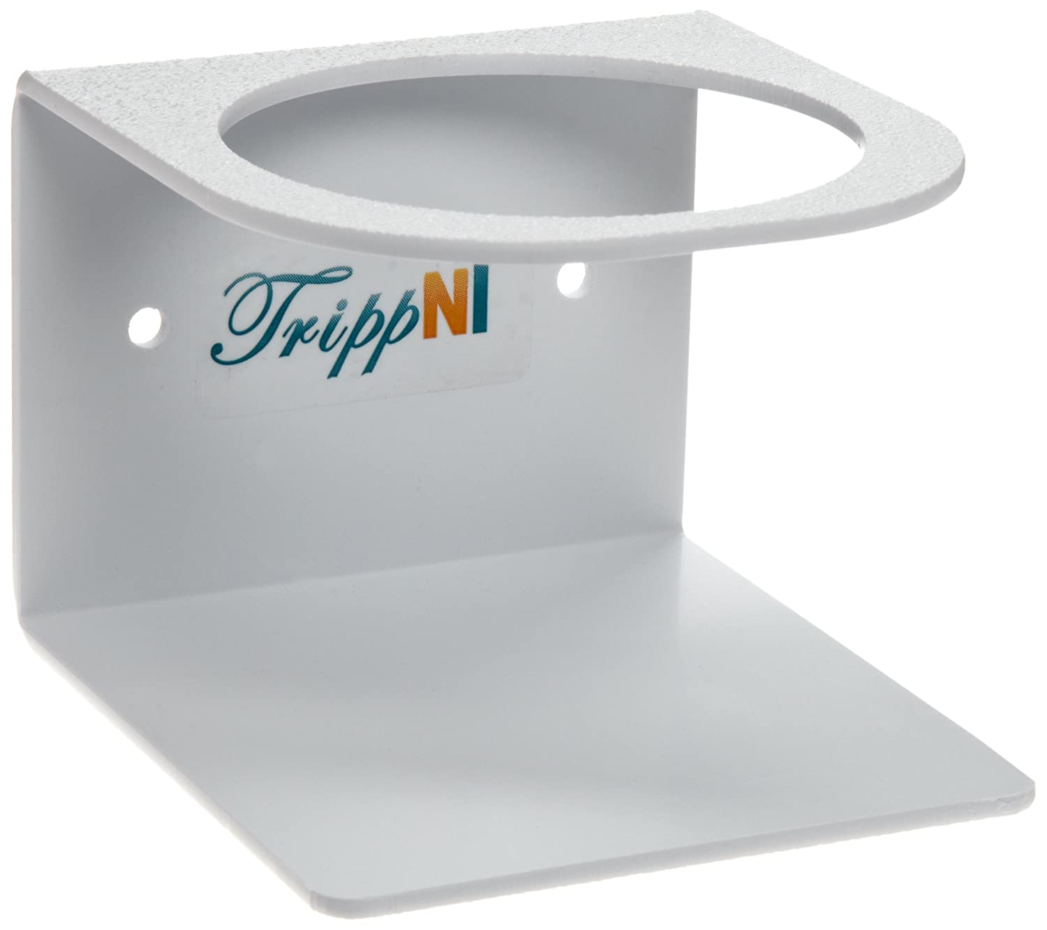 TrippNT 50080 White Acrylonitrile Butadiene Styrene Single Bottle Holder, Stores 1 Bottle of 1L, 4.75
