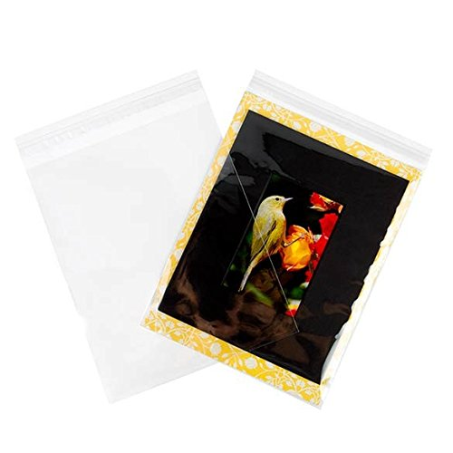 ClearBags 9 x 11 Clear Cello Bags   Resealable Adhesive on Flap, Not Bag   Great for Candy, Cookies, and Party Favors   Safe Storage of Documents, Pictures, Etc   Food Safe   B811A (Pack of 100)