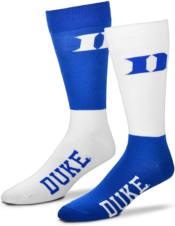 For Bare Feet Men's NCAA 4-Square Mismatch Dress Socks-Size Large (10-13)