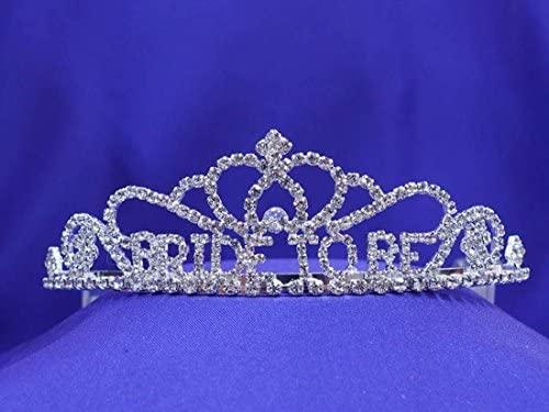 Bridal Shower Party Bride to be Gift Rhinetone Crystal Tiara Crown Princess BB1