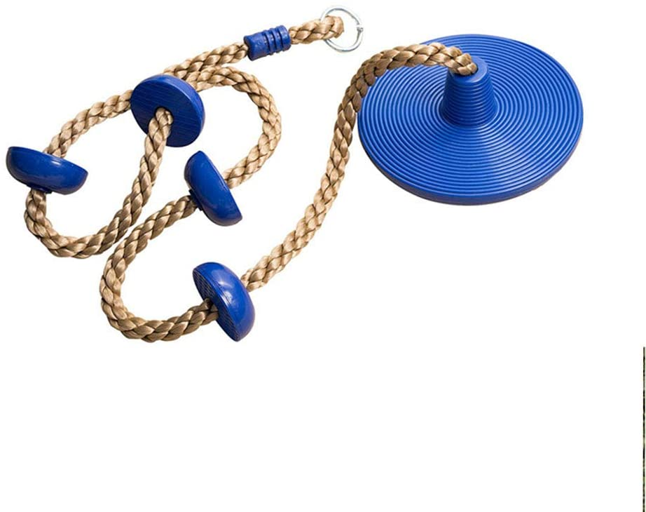 Suny Smiling Climbing Rope Swing with Disc Swing Seat Set Rope Ladder for Kids Outdoor Tree Backyard Playground Swing #4380