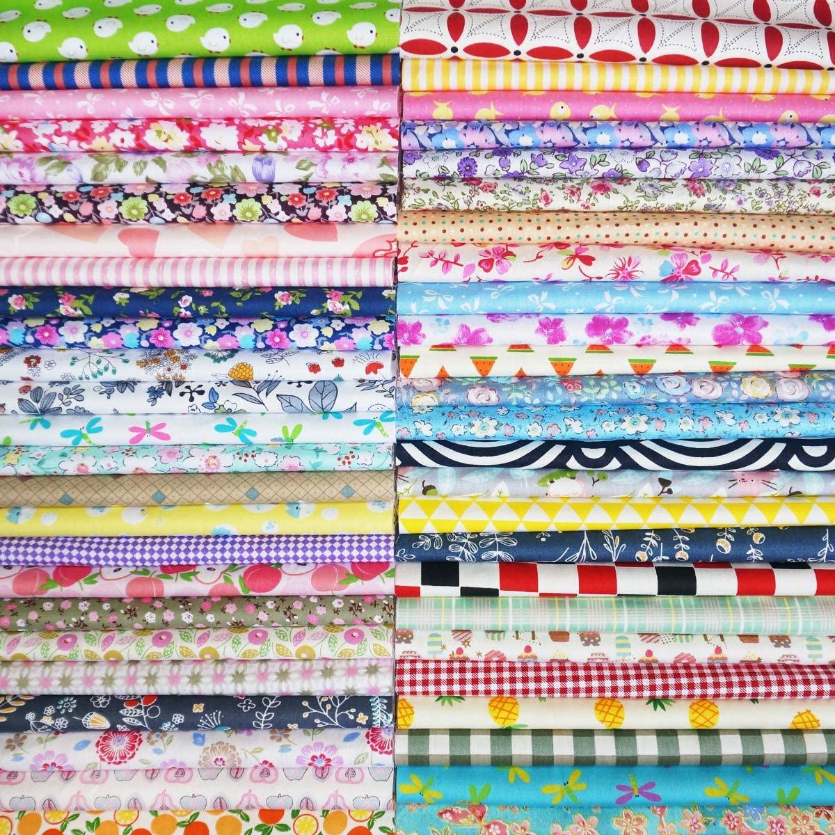 Quilting Fabric, Misscrafts 25pcs 30 x 30cm Cotton Fabric Squares Bundle Patchwork Pre-Cut Quilt Squares for DIY Sewing Scrapbooking Quilting Dot Pattern