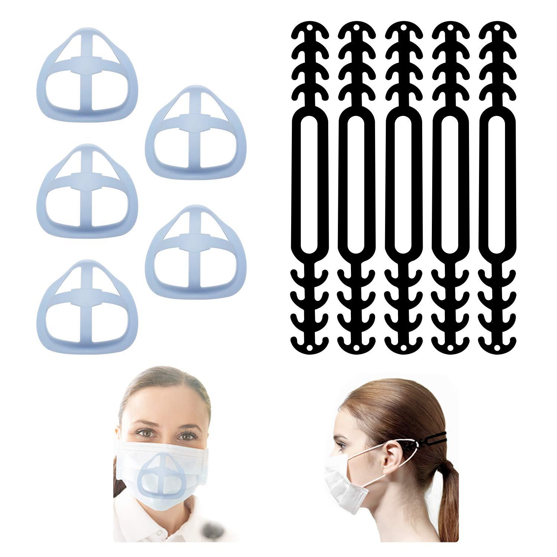 3D Mask brackets/Mask extmder/Mask support frame/Adjustable Mask Extender Reusable Washable5+5 / Pack B (fc-1)