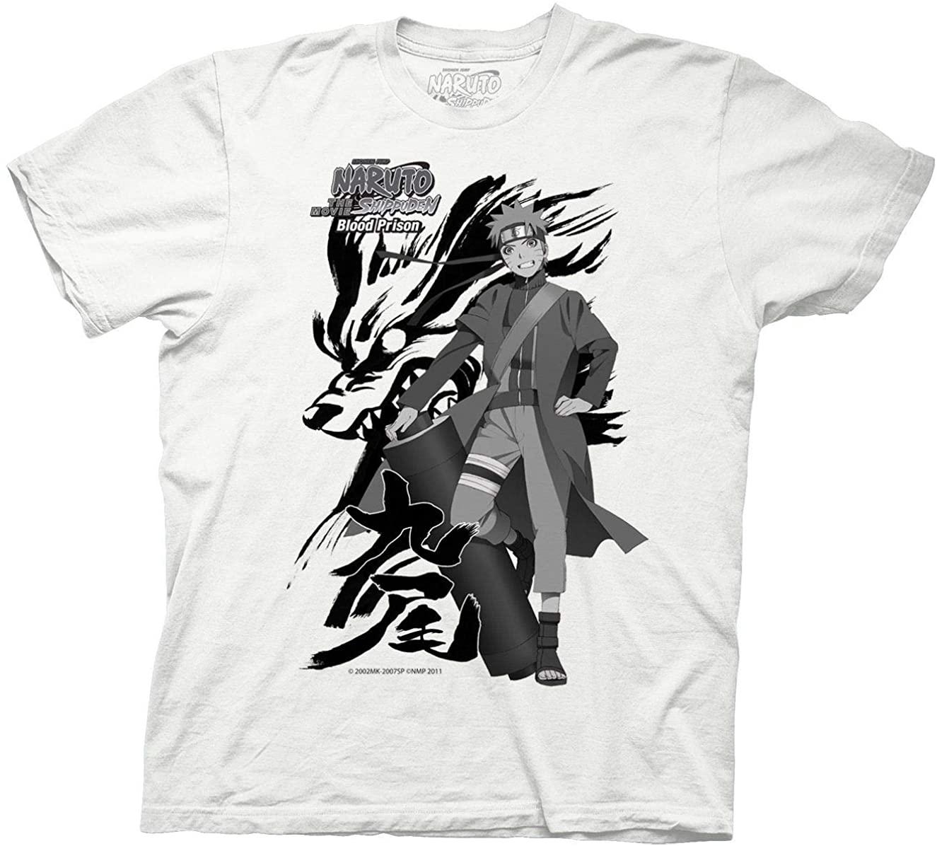 Ripple Junction Naruto Shippuden Adult Unisex Blood Prison Light Weight 100% Cotton Crew T-Shirt