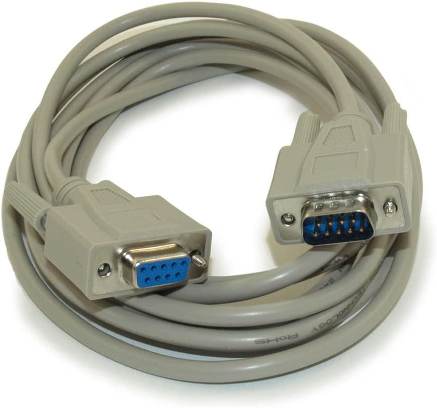 MyCableMart 10ft Serial Null-Modem, DB9/DB9 Male to Female Cable