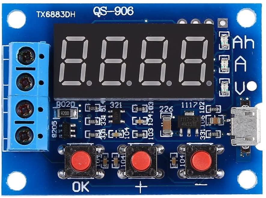 Jadpes Battery Tester, Micro USB 18650 Lium Blei-Säure-Batterie Kapazität Meter Entladung Tester for AA AAA C D 9V CR2032 CR123A CR2 CRV3 2CR5 CRP2
