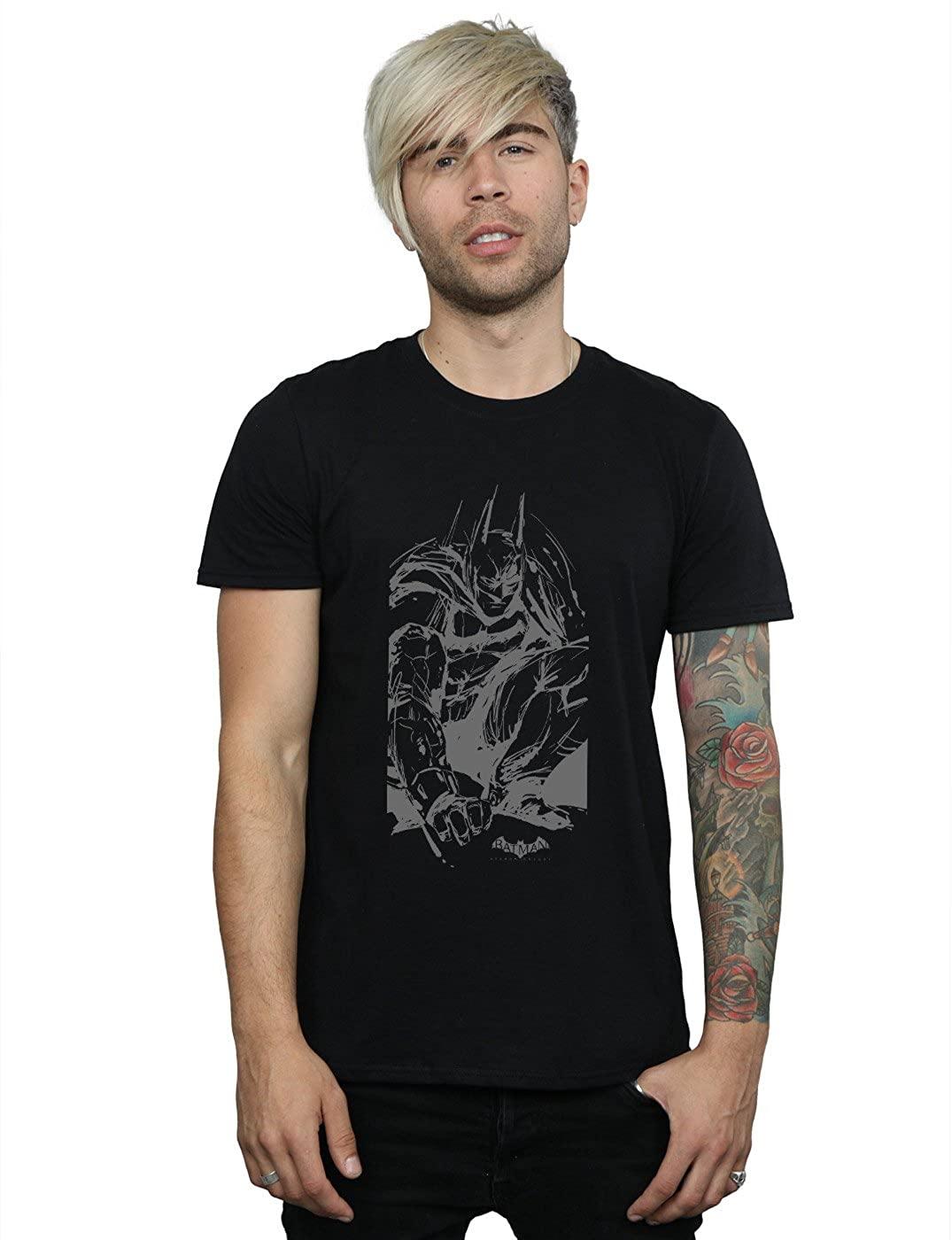 DC Comics Men's Batman Arkham Knight Sketch T-Shirt