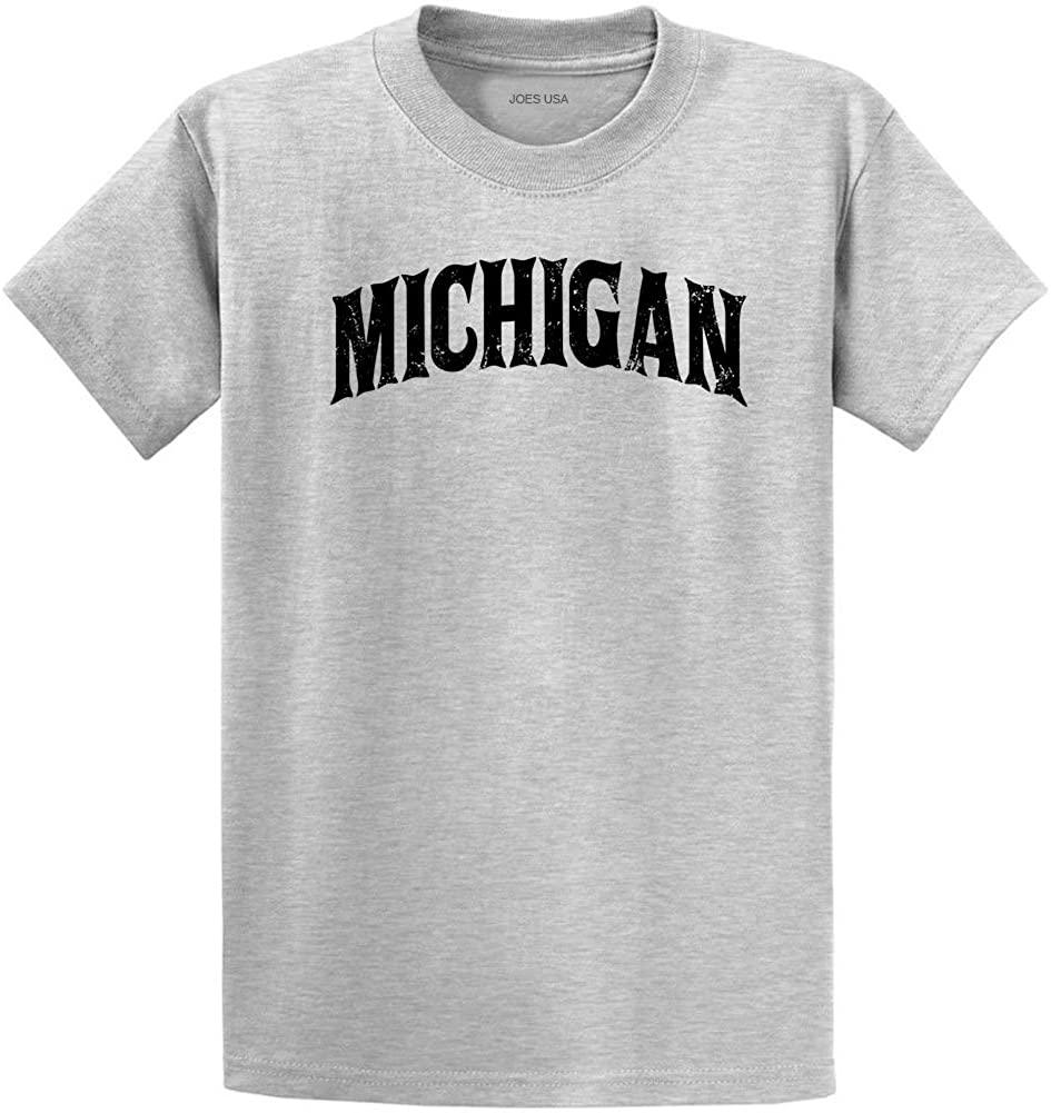 Joe's USA Vintage States T-Shirts-Regular Big and Tall