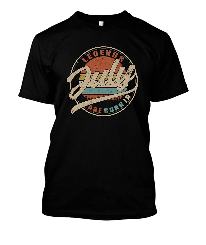 Vintage Legends are Born in July Gildan Short-Sleeve T-Shirt