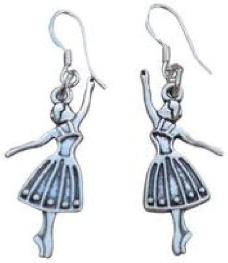 Dance Ballet Charm Earrings, Ballerina Shoe Jewelry, for Dancers, Dance Recitals, Dance Teams & Dance