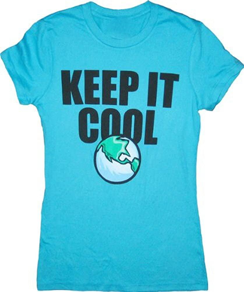 Earth Global Warning Keep It Cool Teal T-Shirt Tee