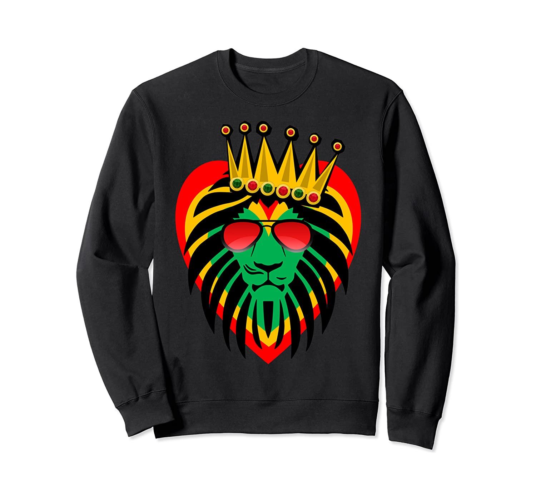 Rasta Sweatshirt With Lion Art. Reggae Love Sweatshirt Gift