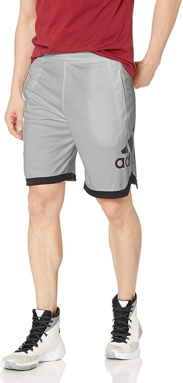 adidas Men's Badge of Sport Basketball Shorts, GRETHR, S
