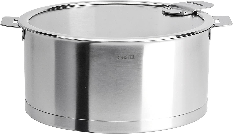 Cristel Strate Saucepan, 1.5 quart, Silver