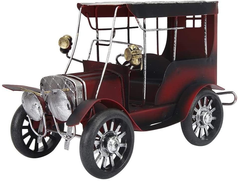 Sanpyl Old Vintage Car Model, Antique Car Miniature Arts Craft for Home Office Desk Shelf Decoration Gift Idea