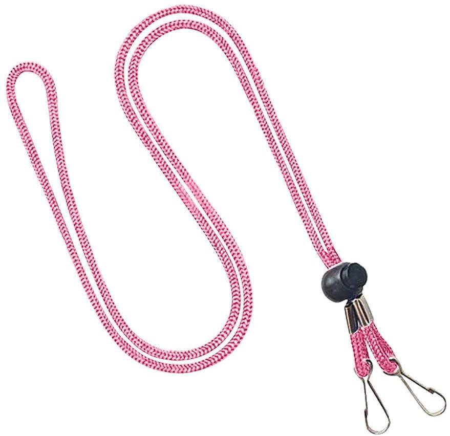 (Assort Colors) Adjustable Mask Lanyard Handy&Convenient Mask Strap Holder&Ear Holder Rope (5, pink)