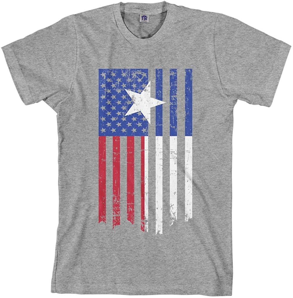 Threadrock Men's Texas American Flag T-Shirt