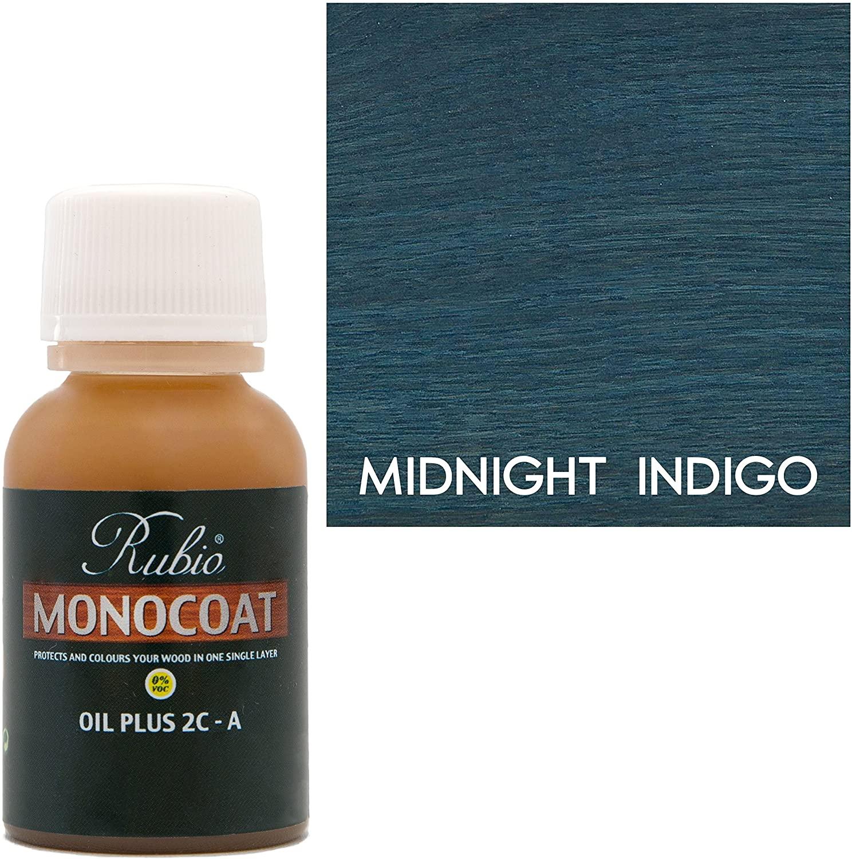 Rubio Monocoat Oil Plus 2C-A Sample Wood Stain Midnight Indigo 100ml