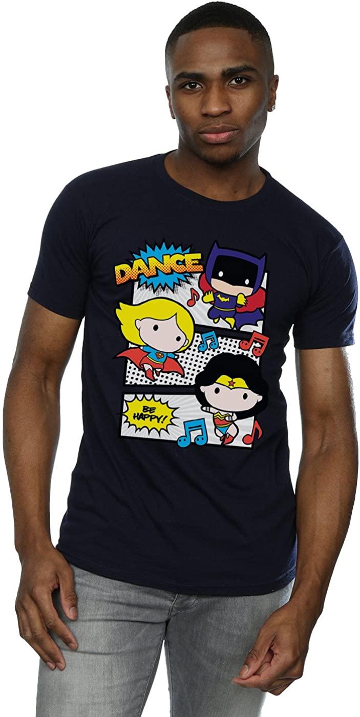DC Comics Men's Chibi Super Friends Dance T-Shirt