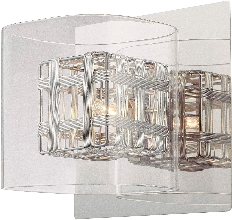 Jewel Box 1 Light Bath - N/a Grey Modern Contemporary Iron